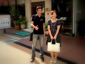 菊池カウンセラーと竹内代表