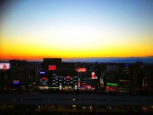 名古屋の夕景